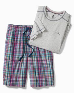 Big & Tall Plaid Loungewear Set