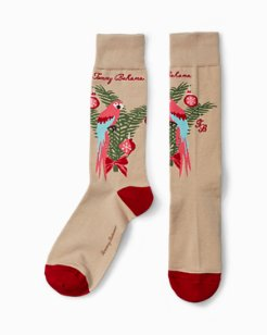 Macaw-Y Christmas Socks