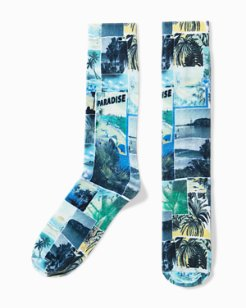 Paradise Sublimated Print Socks