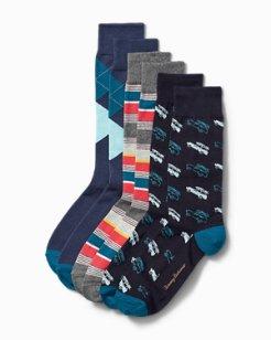 Boxed Holiday Socks - 3-Pack