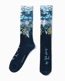 Live The Island Life Sublimated Socks