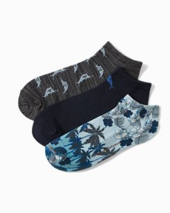 Shades Of Palms Socks, 3-Pack