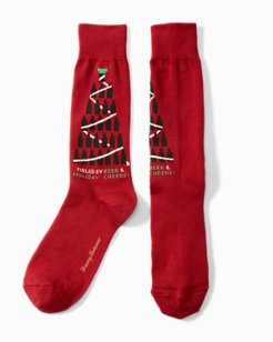 Fueled By Beer & Holiday Cheers Socks