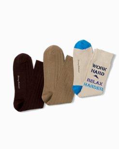 Work Hard Relax Harder Socks - 3-Pack