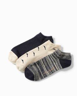 All Over Marlin Liner Socks - 3-Pack