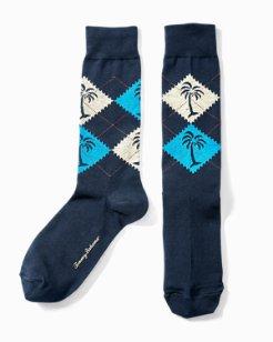 Palm Argyle Socks