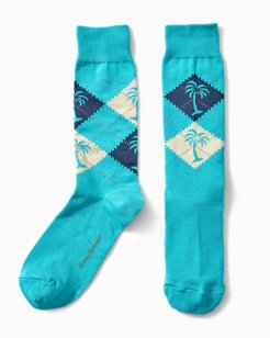 Palm Argyle Socks
