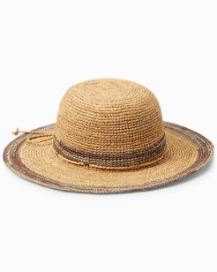 Raffia Hat with Contrast Trim