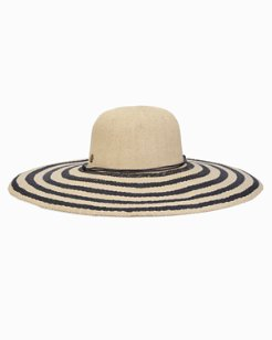 Oceanview Stripe Wide Brim