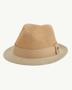 d9f93762da063 Two-Tone Fine Paper Braid Fedora