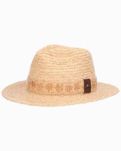 Braided Raffia Gambler Hat