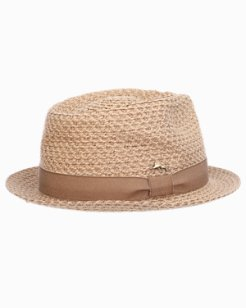Braided Fedora With Linen Trim