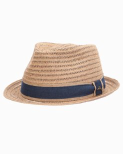 Two-Tone Raffia Braid Fedora