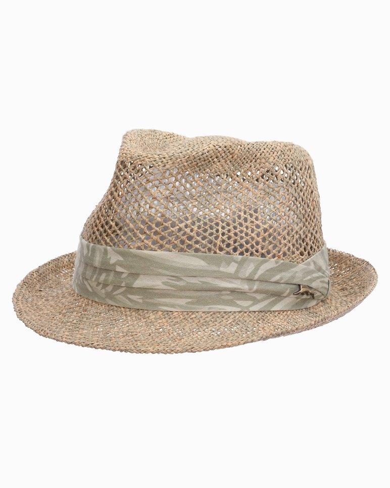 1940s Mens Hats | Fedora, Homburg, Pork Pie Hats Vent Linen Seagrass Fedora $99.50 AT vintagedancer.com