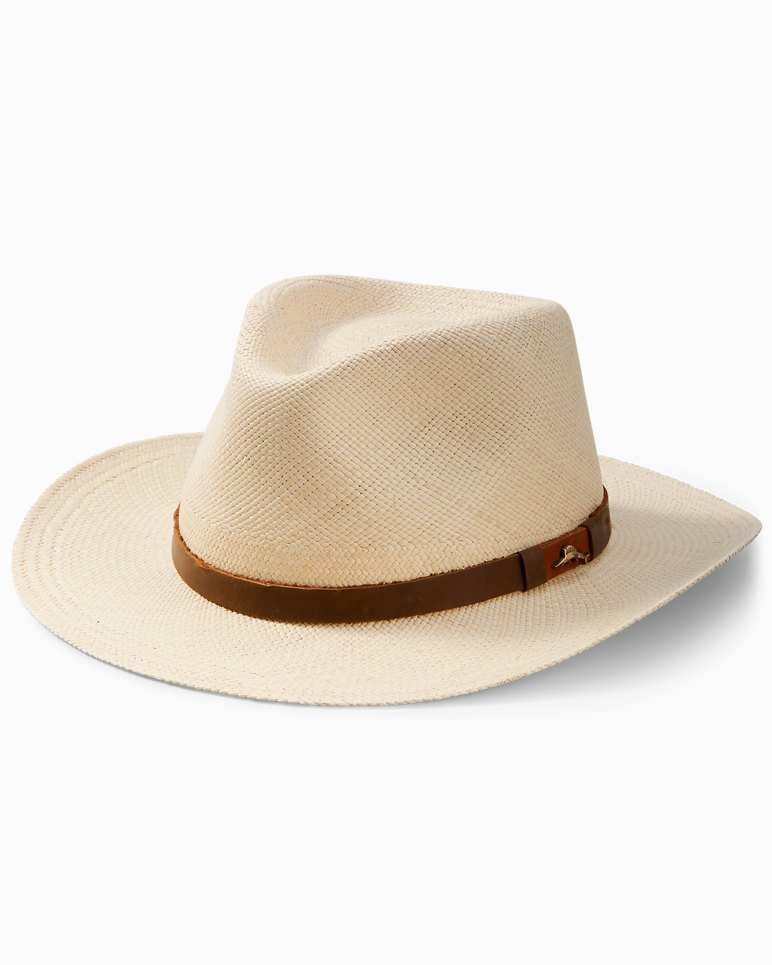 Main Image for Big   Tall Panama Outback Hat with Leather Trim 44ab0a9285b7