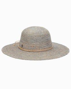 Fleur Crochet Raffia Round Crown Hat