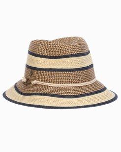 Verita Multitone Paper Braid Bucket Hat