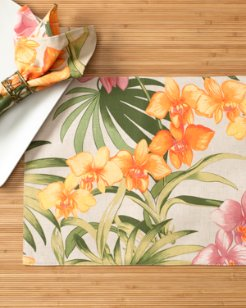 African Orchid Placemat