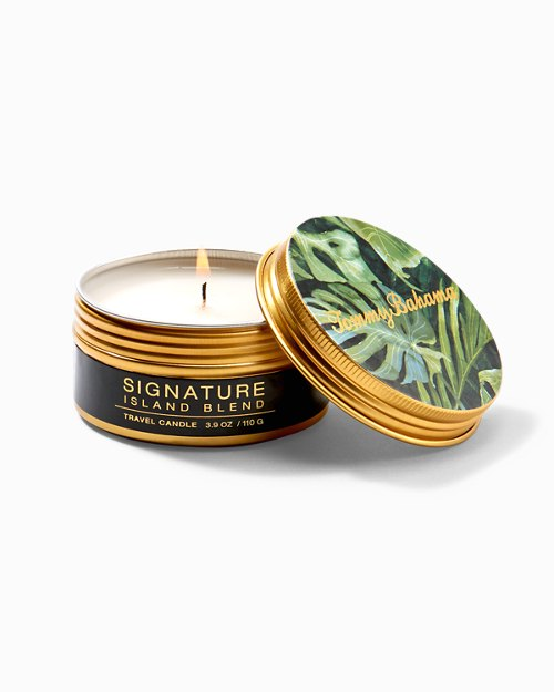 Island Blend Villa Fronds Small Candle Tin
