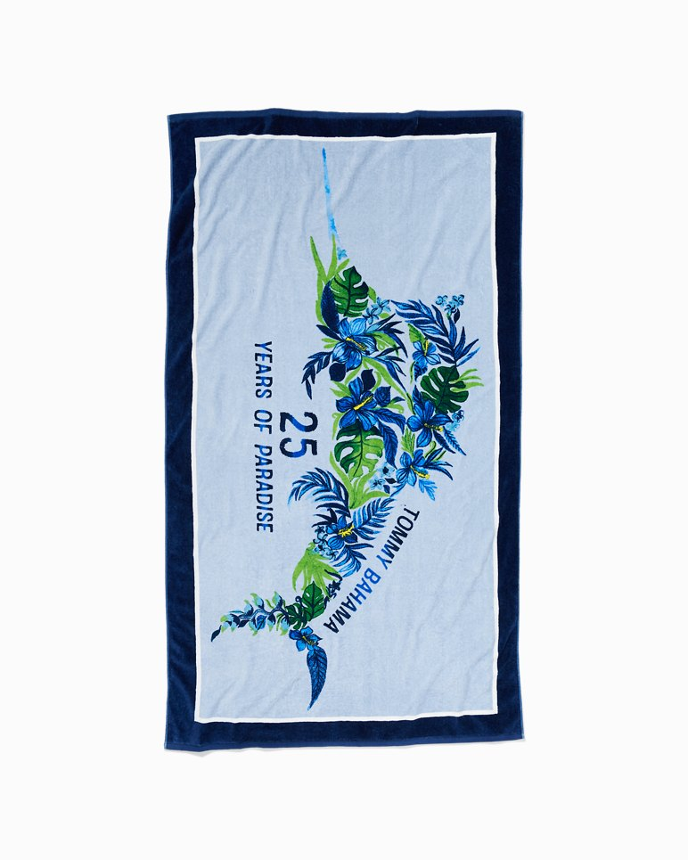 Main Image for 25th Anniversary Floral Marlin Reversible Towel