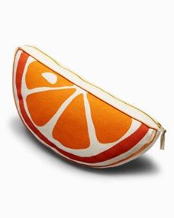 Half-Round Orange Pillow