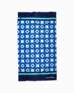 Tide Dye Tiles Reversible Beach Towel