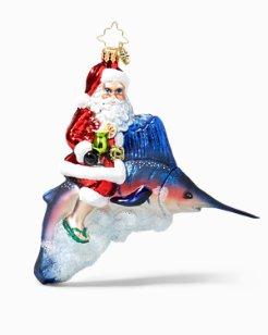 Christopher Radko Santa Marlin Ornament