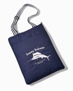 Hibiscus Marlin Beach Blanket With Tote