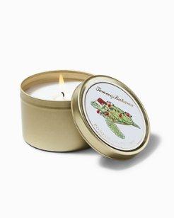 Pomegranate Lime Holiday Sea Turtle Candle Tin