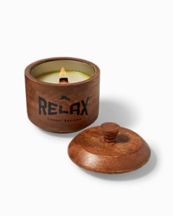 Small Havana Bay Wood Candle