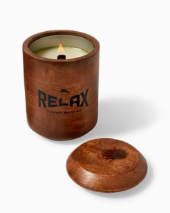 Large Havana Bay Wood Candle