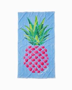 Pineapple Sketch Reversible Beach Towel