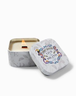 Live The Island Life Candle Tin