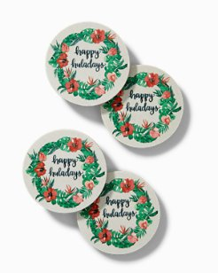 Huladay Wreath Coasters - Set of 4