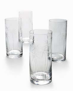 Swaying Palm Highball Glass Set - Set of 4