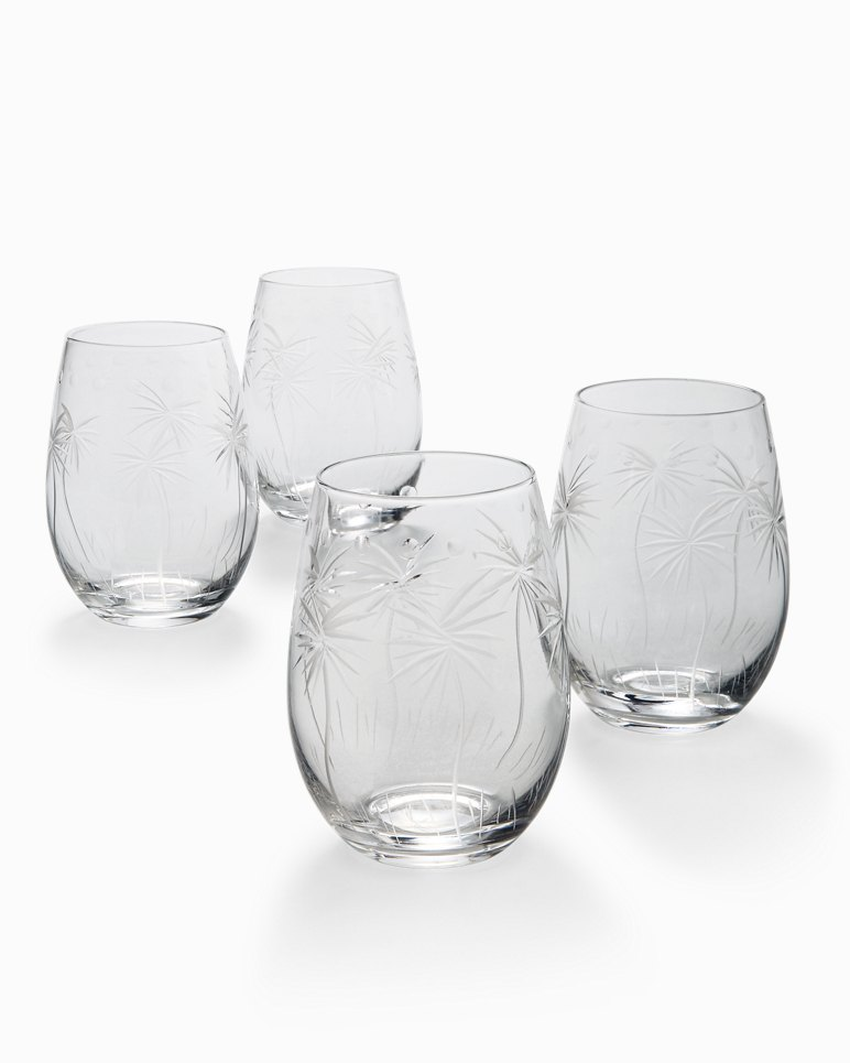 Main Image for Swaying Palm Stemless Wine Glass Set - Set of 4