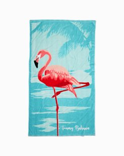 Beached Flamingo Reversible Towel