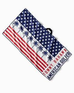 Palms & Stripes Golf Towel