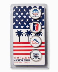 Palms & Stripes Ball Markers