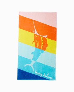 Rainbow Marlin Reverse Towel