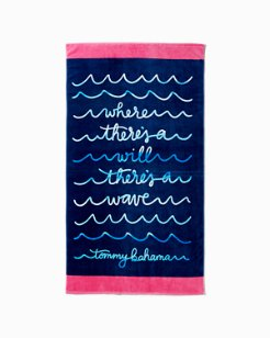 Wave Writer Reversible Towel