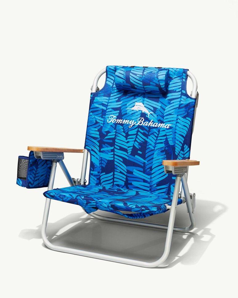Tonal Palm Deluxe Backpack Beach Chair
