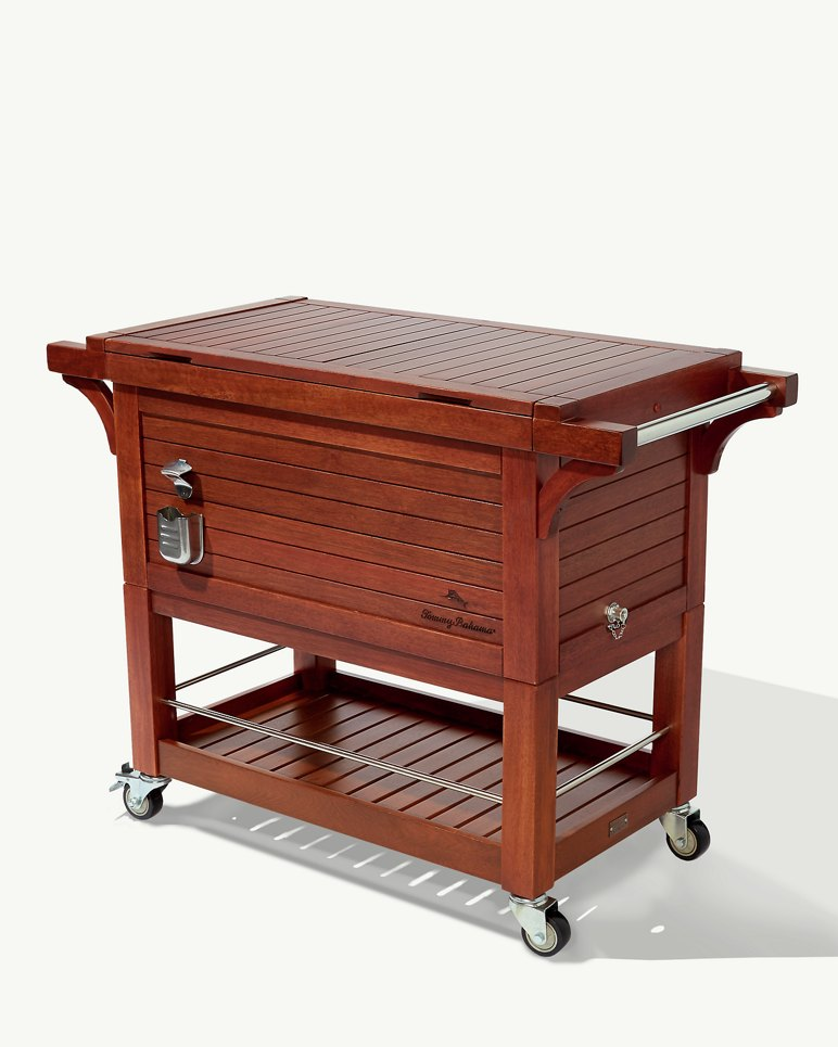 Mahogany Rolling Party Cooler
