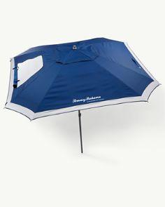 Tonal Palm Interior Print 9 Foot Beach Umbrella