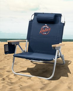 Relax Logo Deluxe Backpack Beach Chair