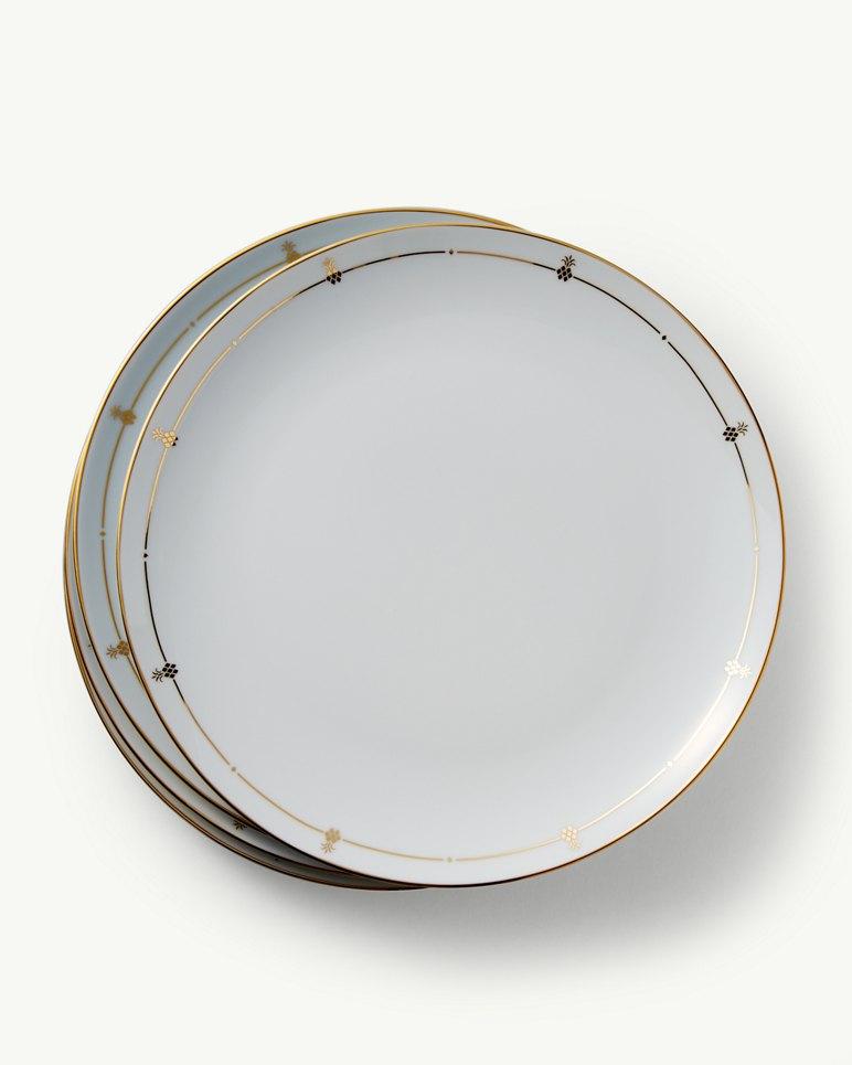 Pineapple Border Porcelain Dinner Plates - Set of 4 & Dinnerware | Home | Main