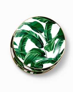 Banana Leaf Salad Plate Set - Set of 4