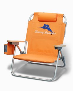 Marlin Logo Deluxe Backpack Beach Chair