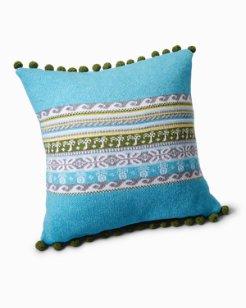 Tropical Fair Isle Pillow