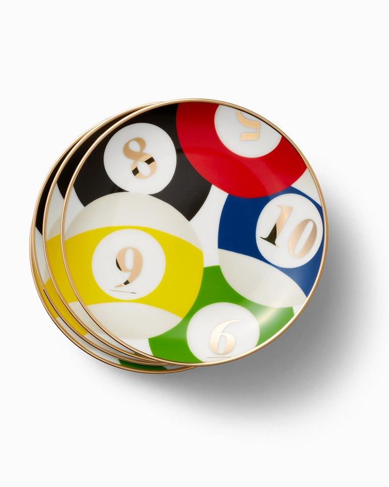 Main Image for Porcelain Billiard Plate Set - Set of 4